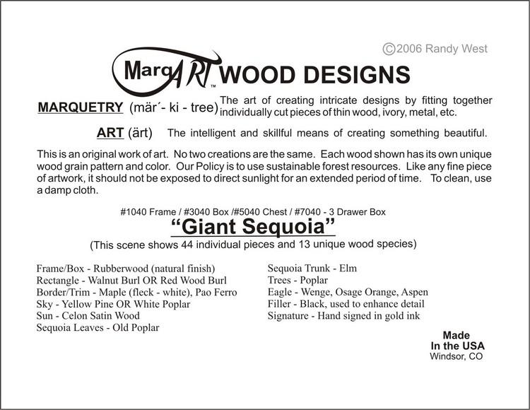 Giant Redwood Sequoia Jewelry Box 3 Drawer