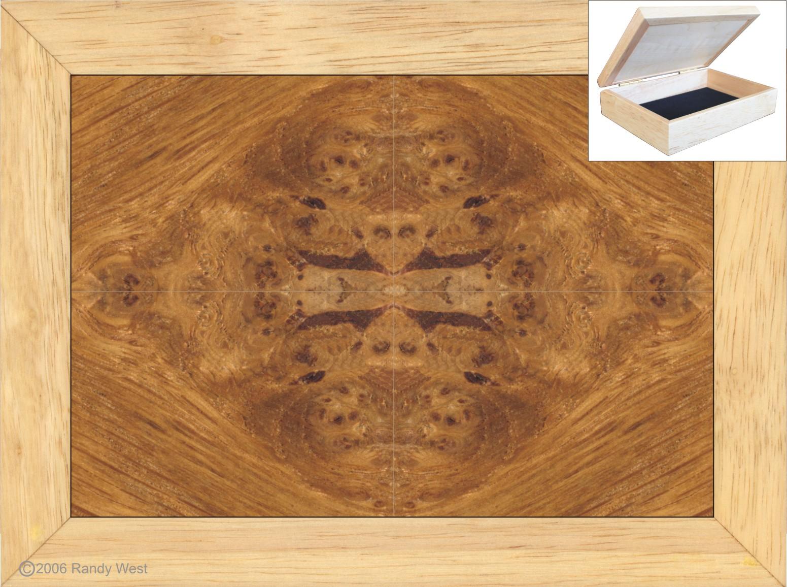 Oak Burl Jewelry Box 4x5