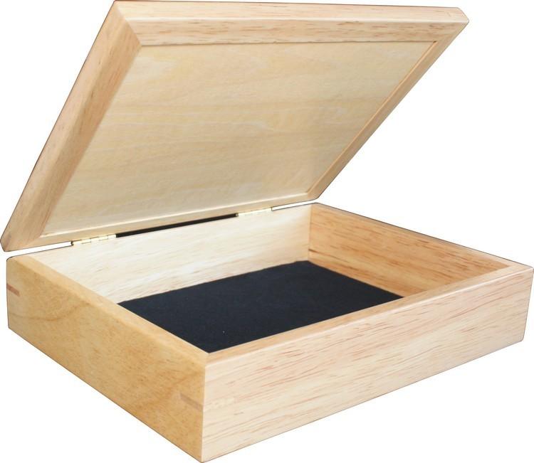 Zebra Wood Diamonds Jewelry Box 6x8