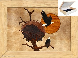 Christmas Gifts for Girlfriend - Jewelry Box 4x5 - Eagles Nest