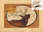 Bugling Elk Head - Jewelry Box 6x8