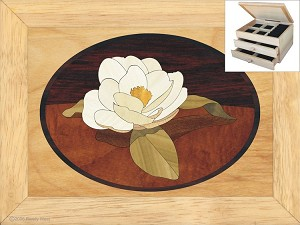 Gardenia Flower - Jewelry Box 2 Drawer
