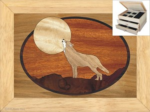 Howling at the Moon - Jewelry Box 2 Drawer