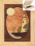 Lighthouse at Sunset - Jewelry Box 6x8