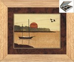 Sailboat in Harbor - Jewelry Box 10x12