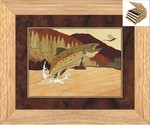 Trout and Mayfly - Jewelry Box 3 Drawer