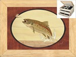 Trout and Mayfly - Jewelry Box 2 Drawer