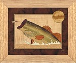 Bass and Dragonfly - Wall Art 10x12