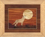 Howling at The Moon - Wall Art 10x12