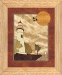 Lighthouse at Sunset - Wall Art 10x12