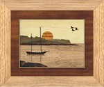Sailboat in Harbor - Wall Art 10x12