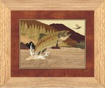 Trout and Mayfly - Wall Art 10x12