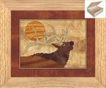 Bugling Elk Head - Wooden Chest 10x12