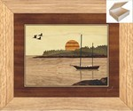 Sailboat in Harbor - Wooden Chest 10x12