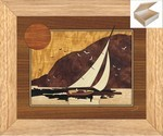 Sunset Sailing - Wooden Chest 10x12