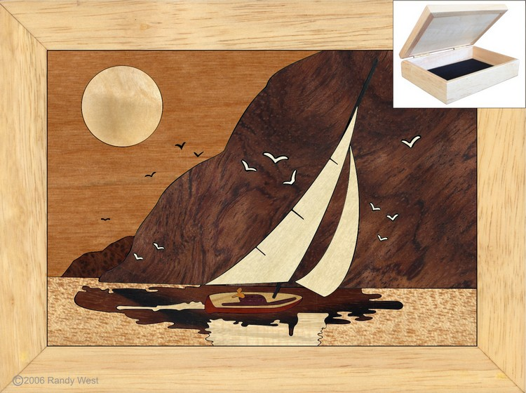 Gifts for Mom for Christmas - Jewelry Box 4x5 - Sunset Sailing