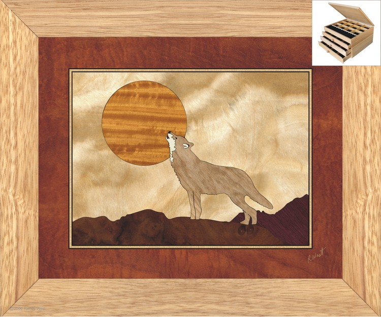 Howling at The Moon - Jewelry Box 3 Drawer