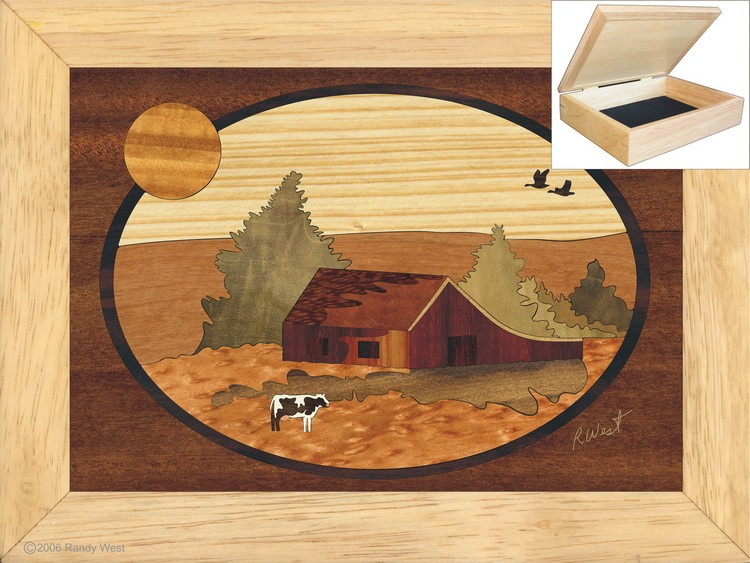 The Farm  - Jewelry Box 6x8