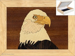 Unusual Christmas Gifts - Jewelry Box 4x5 - Eagles Head