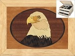Christmas Gifts for Her - Jewelry Box 2 Drawer - Eagles Head