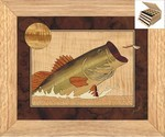 Bass and Dragonfly - Jewelry Box 3 Drawer