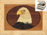Eagles Head - Jewelry Box 2 Drawer