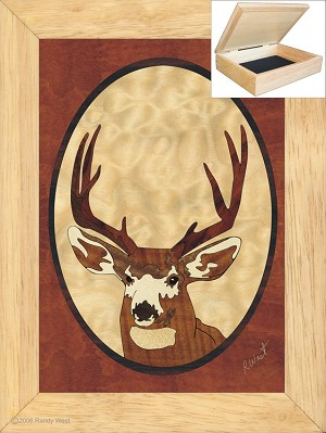 Head Buck - Jewelry Box 6x8