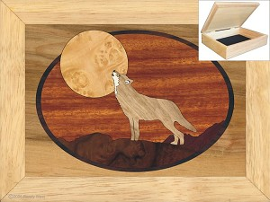 Howling at the Moon - Jewelry Box 6x8