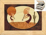 Kokopellis Dance - Jewelry Box 2 Drawer