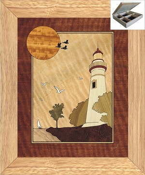 Lighthouse at Sunset - Jewelry Box 10x12