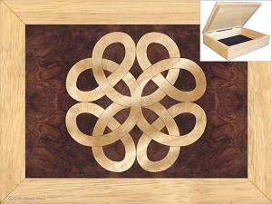 Celtic Lovers Knot - Jewelry Box 6x8