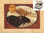 Moose Head - Jewelry Box 2 Drawer