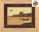 Sailboat in Harbor - Jewelry Box 3 Drawer