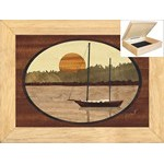 Sailboat in Harbor - Jewelry Box 6x8
