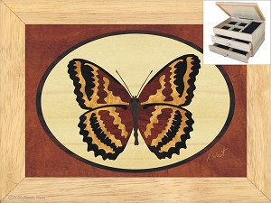 The Butterfly - Jewelry Box 2 Drawer