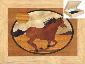The Mustang - Jewelry Box 6x8
